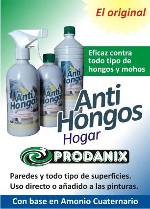 El Antihongos Prodanix Está Diseñado Para Eliminar Hongos, Mohos Y Esporas.  Aplicable En Todo Tipo De Superficies Como Ser: Telas, Empapelados, Paredes,  ...
